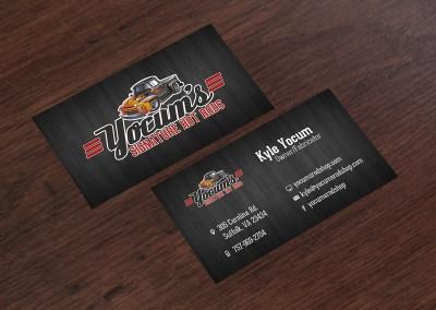 Yocum's Rod Shop Business Cards