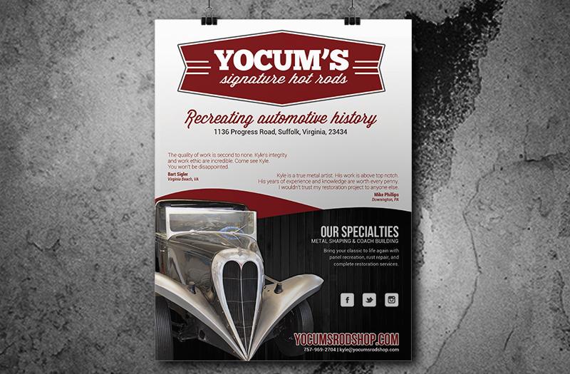 Yocum's Rod Shop Magazine Ad