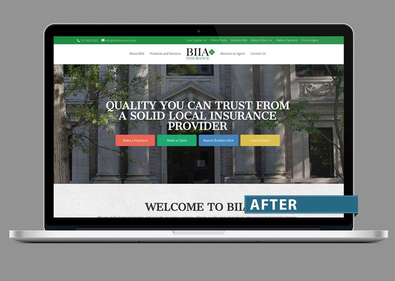 Building Industry Insurance Association (BIIA), Norfolk new website design by Doebank Designs