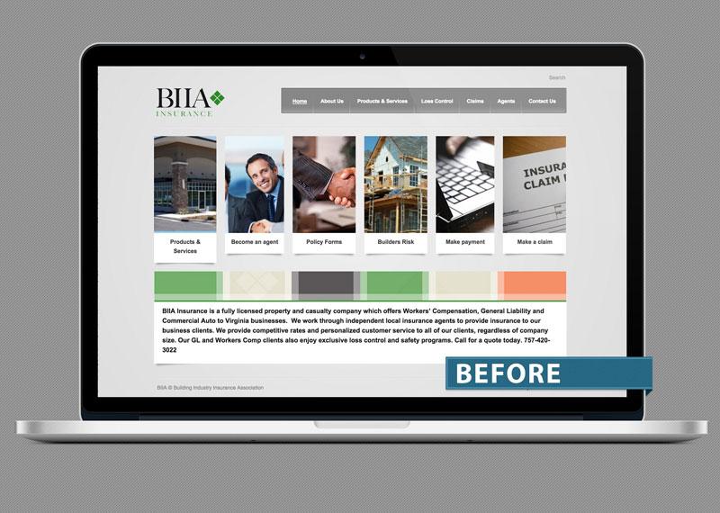 Building Industry Insurance Association (BIIA), Norfolk old website